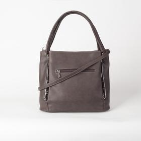 Сумка женская, 3 отдела на молнии, наружный карман, цвет коричневый - фото 53879