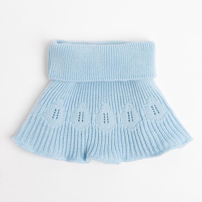 Манишка детская, цвет голубой, размер 48-50 - фото 2056842
