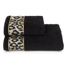 Полотенце махровое Leopardo ПЦ-2601-4478-1 цв.19-4015 50х90 см, черный, хл100%, 460г/м2