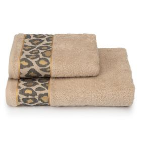 Полотенце махровое Leopardo ПЦ-2601-4478-2 цв.12-4301 50х90 см, бежевый, хл100%, 460г/м2