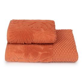 Полотенце махровое Tropical mood ПЦС-2601-4474 цв.16-1340 50х90 см, оранж, хл100%, 460г/м2