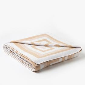 Одеяло хлопковое Греция 140х205 см,  бел беж, хлопок-50%, п/э-30%, пан-20%, 380г/м2