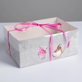 Love cupcake box, 23 × 16 × 10 cm