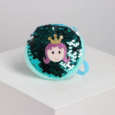 Princess purse with carabiner, sequins, MIX color