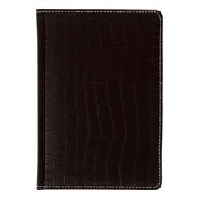 Ежедневник датир 2021 А5 176л Wild,иск кожа,2ляссе,тон бл70г/м2,темно-коричневый