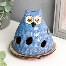 "Candle holder ceramic ""Filin-mountain"" 12x12x12 cm"