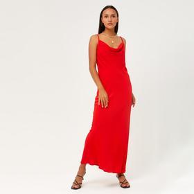 Платье женское MINAKU: Silk pleasure, цвет красный , размер 42