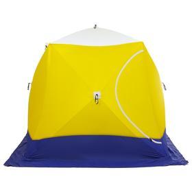 Палатка зимняя «СТЭК» КУБ Long T, 3-местная, трёхслойная