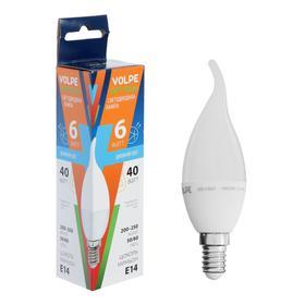 """Лампа светодиодная Volpe """"свеча на ветру"""" C37, 6 Вт, Е14, 3000 K"""