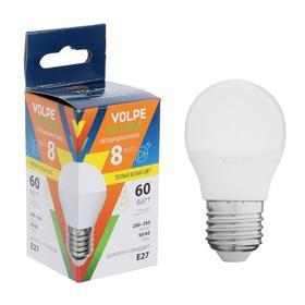 "Лампа светодиодная Volpe, ""шар"" G45, 8 Вт, Е27, 3000 K"