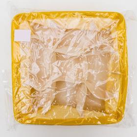 Корзина для хранения с ручками «Лимон», 28×28×12 см, 9 ячеек, цвет жёлтый - фото 4640881
