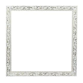 Рама для картин (зеркал) 50 х 50 х 4 см, дерево, «Версаль», цвет бело-золотой