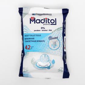 Влажная туалетная бумага MADITOL взрослая с корой дуба big-pack, 42шт