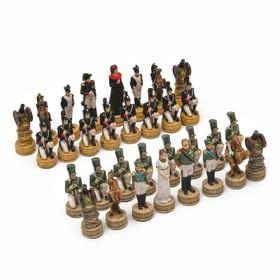 """Шахматные фигуры """"Отечественная война"""" (h короля=8 см, h пешки=6 см)"""