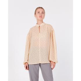 MINAKU women's blouse: Green trend color beige, R-R 46