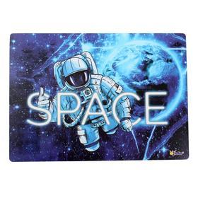 Накладка на стол пластиковая, А4, 339*224 мм, КН-4, (500 мкм) 'В космосе' Ош