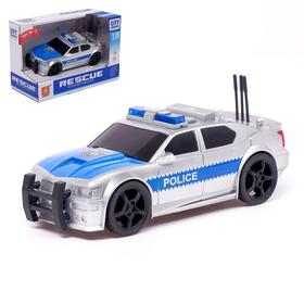 """Машина инерционная """"Полиция"""", 1:20, свет и звук"""