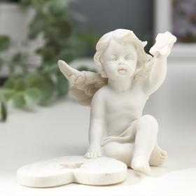 "Souvenir polystone ""Snow-white angel collects puzzle"" 6, 8x8, 5x7, 5 cm"