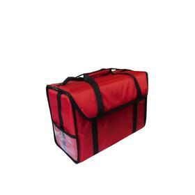 Термосумка для обедов, 500х250х350 мм, фольгированная, красная