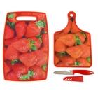 Набор кухонный, 3 предмета: 2 доски разделочных 38х23 см, 30х18 см, нож 21 см в чехле, цвета МИКС
