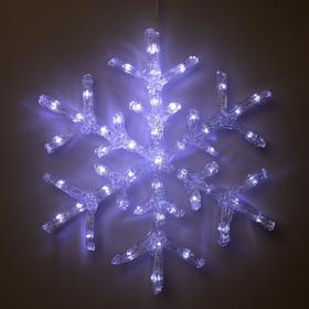 "Фигура акрил.""Снежинка"" 39х39х2 см, 50 LED, 220V, БЕЛЫЙ"