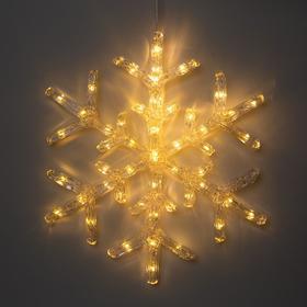 "Фигура акрил.""Снежинка"" 39х39х2 см, 50 LED, 220V, Т/БЕЛЫЙ"