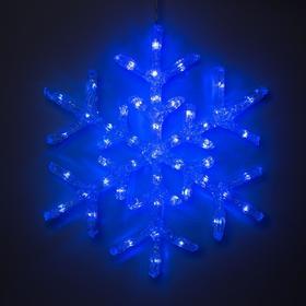 "Фигура акрил.""Снежинка"" 39х39х2 см, 220 В, 50 LED, СИНИЙ"