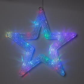 """Фигура акрил.""""Звезда"""" 50х50х3 см, 220 В, 45 LED, МУЛЬТИ (RGB)"""