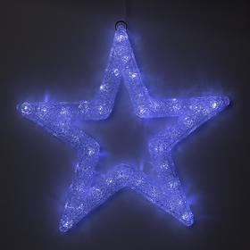 "Фигура акрил.""Звезда"" 50х50х3 см, 220 В, 45 LED, БЕЛЫЙ"