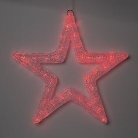 "Фигура акрил.""Звезда"" 50х50х3 см, 220 В, 45 LED, красная"