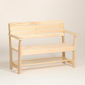 """Скамейка с подлокотником, наличник 120×55×90см """"Добропаровъ"""""""