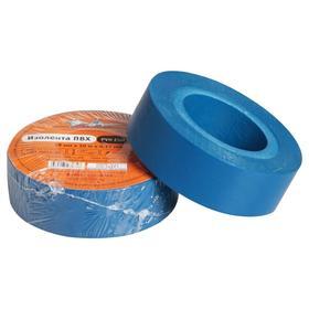 Изолента ПВХ, синяя, 19 ммх10 м Ош