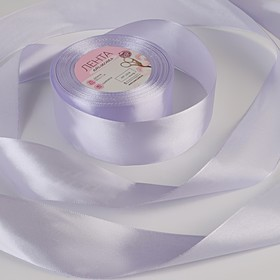 Satin ribbon, 40 mm × 22 ± 1 m, light lilac color # 90