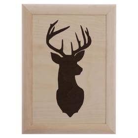 """Eco painting in Scandinavian style """"silhouette of a deer"""" 21x30x3 cm"""