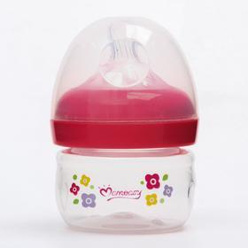 Бутылочка для кормления, широкое горло, 60 мл., цвет МИКС