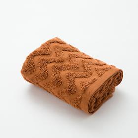Полотенце махровое LoveLife Zig-Zag 50*90 см, цв. корица, 100% хл, 360 гр/м2