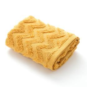 Полотенце махровое LoveLife Zig-Zag 50*90 см, цв. горчичный,100% хл, 360 гр/м2