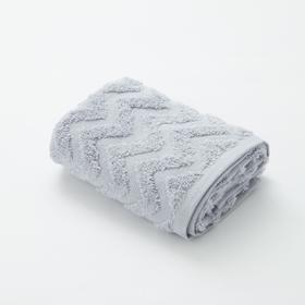 Полотенце махровое LoveLife Zig-Zag 50*90 см, цв. пыльно-лавандовый,100% хл, 360 гр/м2