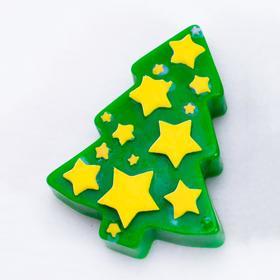 Силиконовая форма для мыла Ёлка со звёздами