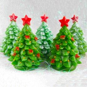 Silicone soap mold Christmas Tree with a star