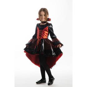 Карнавальный костюм «Вампирша», платье, чокер, р. 28, рост 110 см