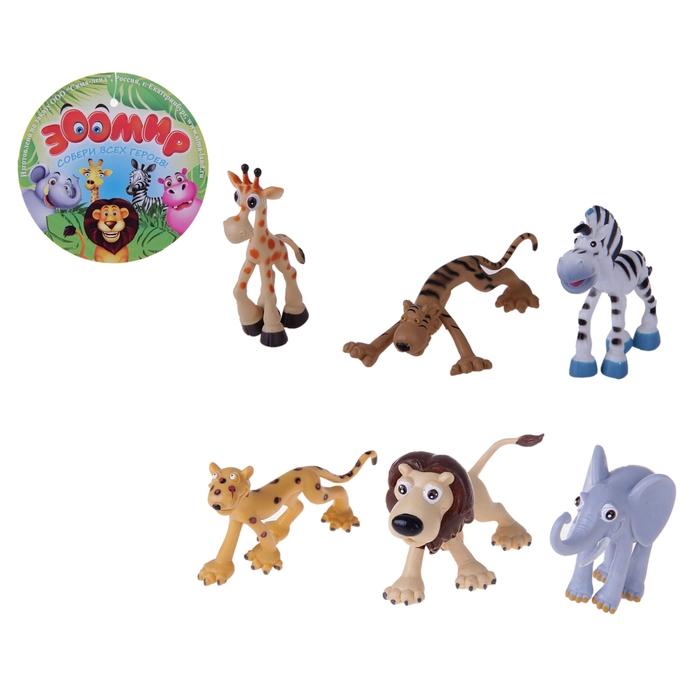 Набор животных «Мадагаскар», 6 штук - фото 106523989