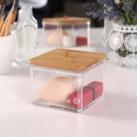 Container d/storage is broken o BAMBOO d9,5*9,5*7,5 cm transparent/brown card KOR