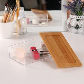 Container d/storage is broken o BAMBOO 19,2*9,5*5,3 cm transparent/brown card KOR