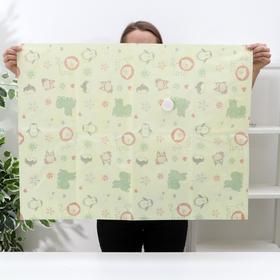 Вакуумный пакет для хранения вещей «Зверюшки», 60×80 см, толщина 0,12 см - фото 4640116
