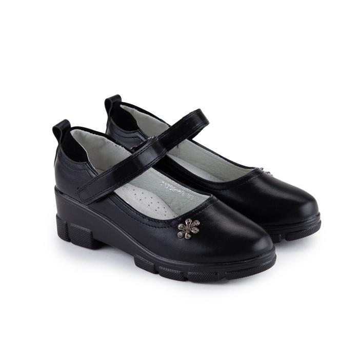 Туфли детские, цвет чёрный, размер 37 - фото 1885132