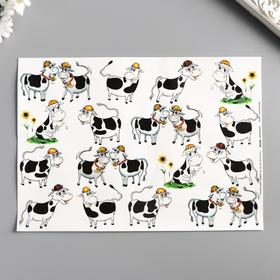 "Decoupage card ""Cowshed"" density 45g / m2, A4 format"