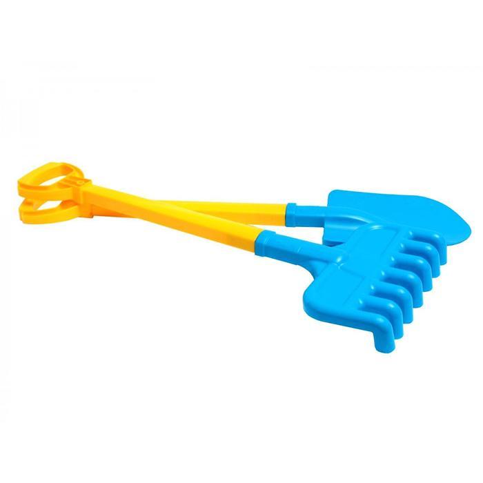 Набор для песочницы, лопата и грабли, большие, МИКС