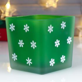 "Candle holder ""Snowballs"" square"