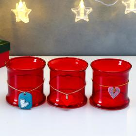 """Candle holder """"Romy"""" scarlet gloss small"""
